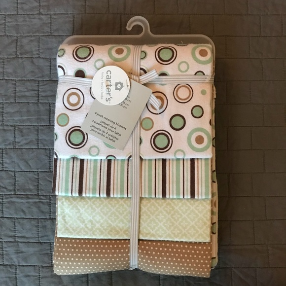 04a41f5be3 Carter s Baby 4 Pack Flannel Receiving Blankets